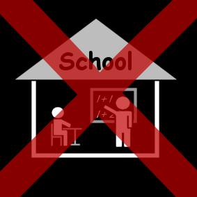 geen school rood